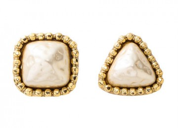 CUTSTEEL baroque pearl pierce gold
