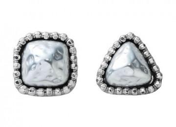 CUTSTEEL baroque pearl pierce silver