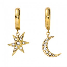 MOON&STAR hoop earring gold
