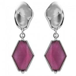 VITRAIL diamond earring silver