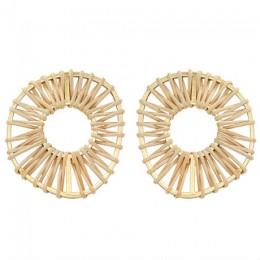 VITRAIL rattan round pierce gold