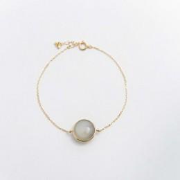 メルディングライトブレスレット_grey moon stone