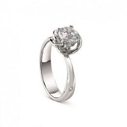 Damiani - Bocciolo ring in white gold with diamond 81055928