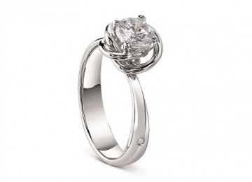 Damiani - Bocciolo ring in white gold with diamond 81055928